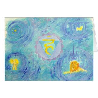 chakra 5 greeting card