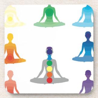Chakra 7 colorea loto de la yoga de la yogui del posavasos de bebida