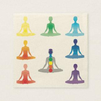 Chakra 7 colorea loto de la yoga de la yogui del servilleta de papel