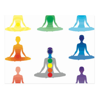Chakra 7 colorea loto de la yoga de la yogui del postales