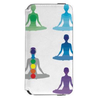 Chakra 7 colorea loto de la yoga de la yogui del funda cartera para iPhone 6 watson