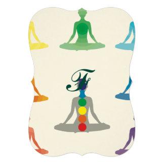 Chakra 7 colors aura chi prana yogi yoga lotus card