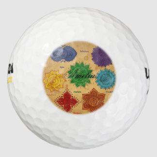 Chakra,Ajna,muladhara,anahata,manipura,svadisthara Pack Of Golf Balls