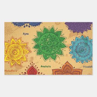 chakra,ajna,muladhara,anahata,manipura,svadisthara rectangular sticker