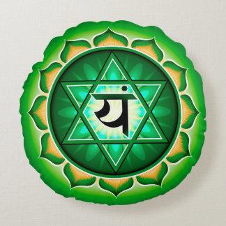 Chakra Anahata Yoga Round Pillow