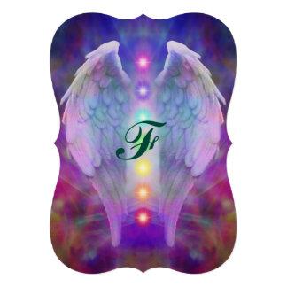 """chakra, ángel, curador, curando de dios, ángeles, invitación 5"""" x 7"""""""