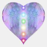 chakra, ángel, curador, curando de dios, ángeles, pegatina en forma de corazón