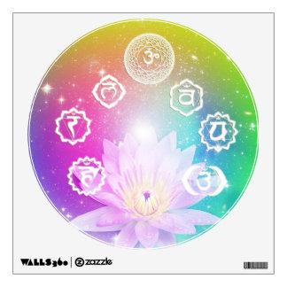 chakra aura white lotus energy system by healing room sticker