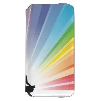 Chakra, aureola, yoga, yogui, mujer, energía, funda cartera para iPhone 6 watson