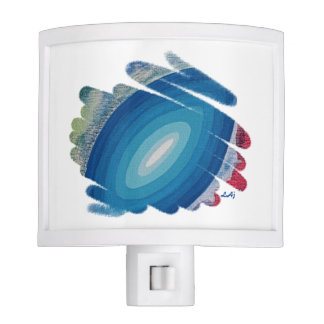 Chakra azul tuerce en espiral luz de la noche del lámpara de noche