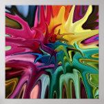 Chakra Balance Bright Colourful Abstract Poster