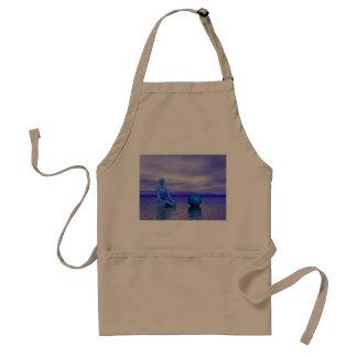chakra blue and landscape adult apron