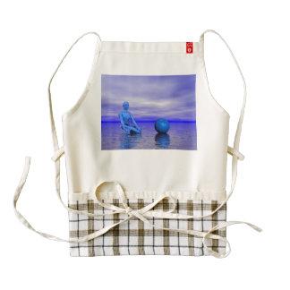 chakra blue and landscape zazzle HEART apron