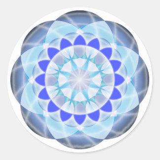 Chakra Button - Vishuddha Classic Round Sticker
