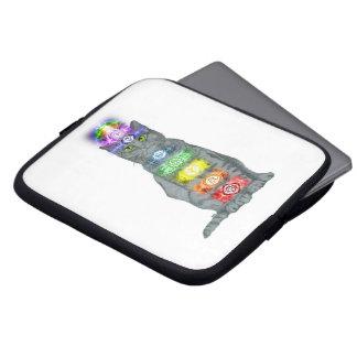 Chakra Cat Laptop Sleeve