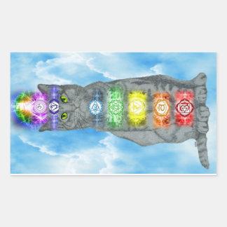 Chakra Cat Rectangular Sticker