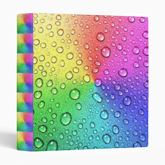 Chakra colorful collage with water droplets vinyl binders