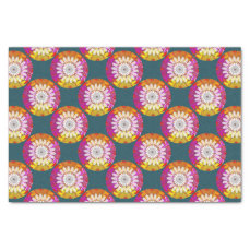 Chakra colorful ending with white FLOWER Tissue Paper