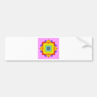 chakra colors 2 pink. Sacred Geometry Bumper Sticker