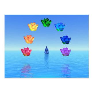 Chakra de la yogui por amor curativo tarjeta postal