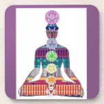 CHAKRA diagram Yoga Meditation Peace NVN630 FUN Beverage Coaster