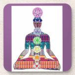 CHAKRA diagram Yoga Meditation Peace NVN630 FUN Coasters