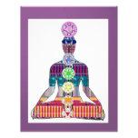 CHAKRA diagram Yoga Meditation Peace NVN630 FUN Letterhead