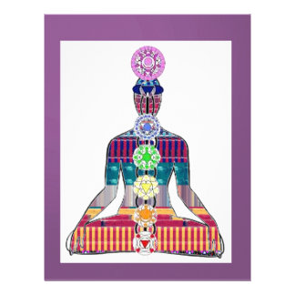 CHAKRA diagram Yoga Meditation Peace NVN630 FUN Letterhead
