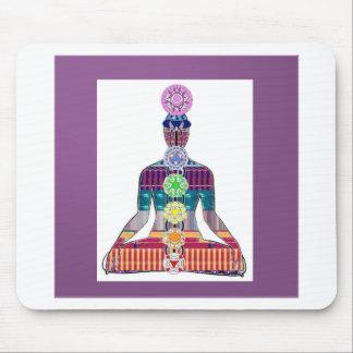 CHAKRA diagram Yoga Meditation Peace NVN630 FUN Mousepads