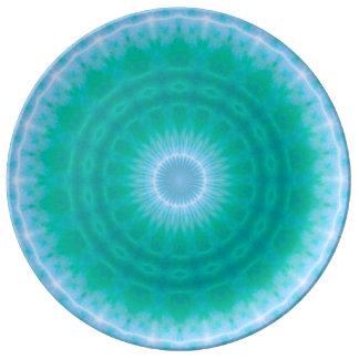 Chakra Energy 2 (green & blue) Dinner Plate