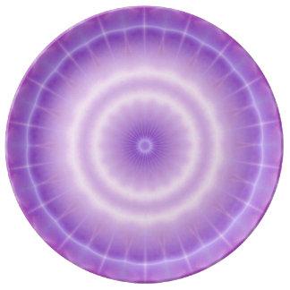 Chakra Energy (lavender) Porcelain Plate