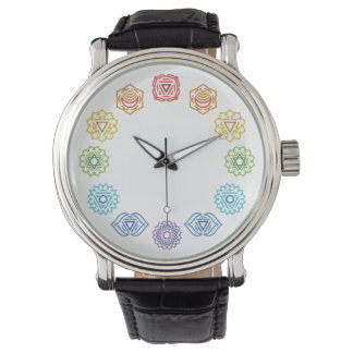 Chakra Energy Leather Watch