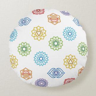 Chakra Energy Round Pillow