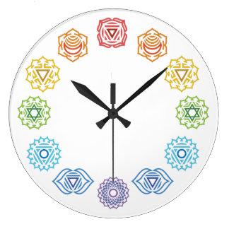 Chakra Energy Wall Clock
