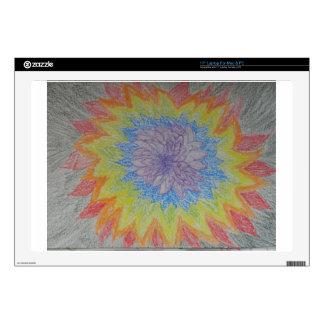 Chakra Flower Blast Laptop Skins