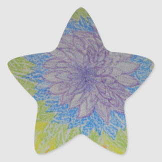 Chakra Flower Blast Star Sticker