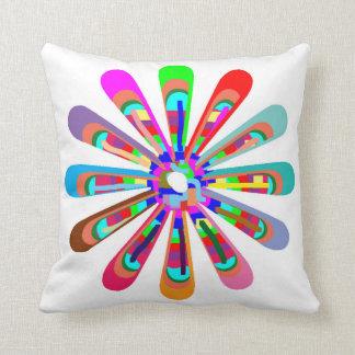 CHAKRA Flower Colorful Cutflower Goodluck Love fun Throw Pillow