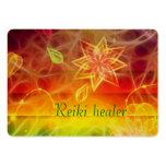 Chakra flower energy art by healing love business card