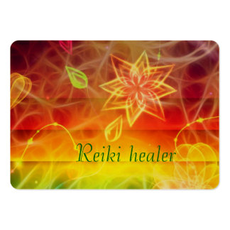 Chakra flower energy art by healing love large business cards (Pack of 100)