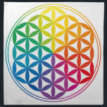 "Chakra Flower Of Life Grid Cloth<br><div class=""desc"">Use your favourite crystals to arrange on this cloth to balance and heal your chakras</div>"