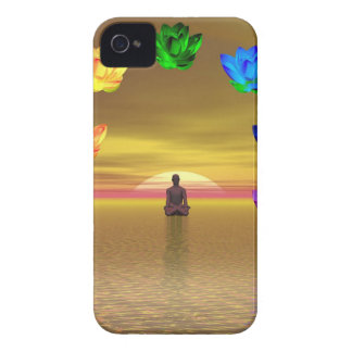 chakra golden colored background cosmos iPhone 4 covers