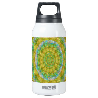 CHAKRA Green Wheel Crystal Beads Stone FUN 10 Oz Insulated SIGG Thermos Water Bottle