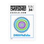 CHAKRA HEALAING MEDITATION POSTAGE STAMP