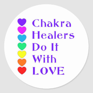 Chakra Healers Do It With Love Classic Round Sticker