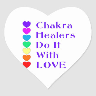 Chakra Healers Do It With Love Heart Sticker