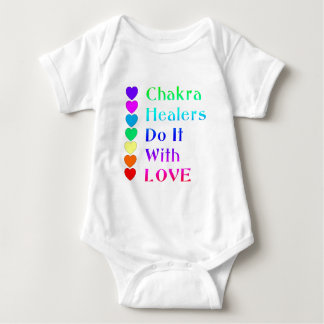 Chakra Healers Do It With Love in Rainbow Colors Baby Bodysuit
