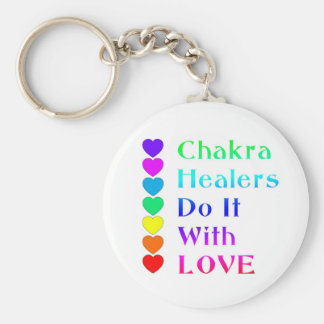 Chakra Healers Do It With Love in Rainbow Colors Keychain