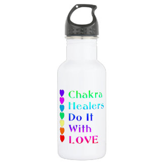 Chakra Healers Do It With Love in Rainbow Colors Water Bottle