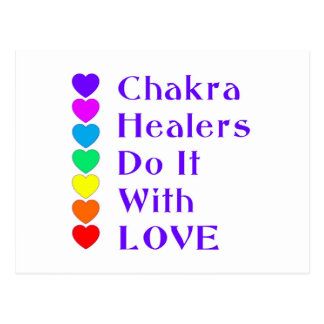 Chakra Healers Do It With Love Postcard