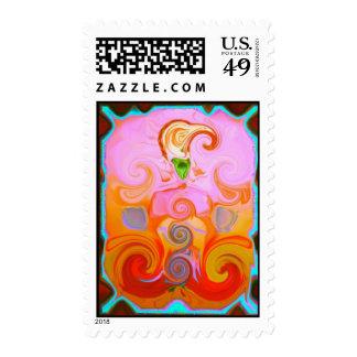 Chakra Healing Postage Stamps